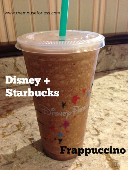 Frappuccino from Main Street Bakery Menu at Magic Kingdom #DisneyDining #MagicKingdom