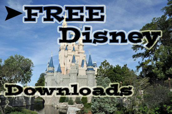 Free Disney Downloads from themouseforless.com #Disney #Travel #kids #Printable