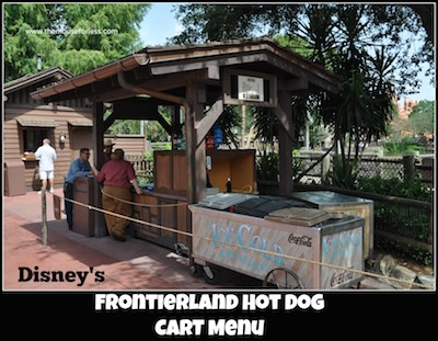 Frontierland Hot Dog Cart at Magic Kingdom #MagicKingdom #DisneyDining