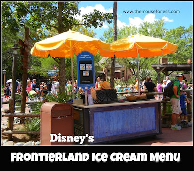 Frontierland Frozen Treats Cart at Magic Kingdom #MagicKingdom #DisneyDining