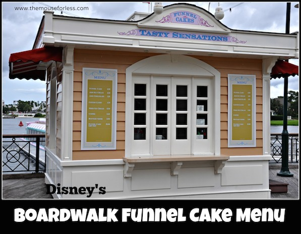 Boardwalk Funnel Cakes Menu #DisneyDining #BoardwalkResort