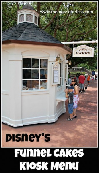 Funnel Cakes Kiosk Menu from Epcot