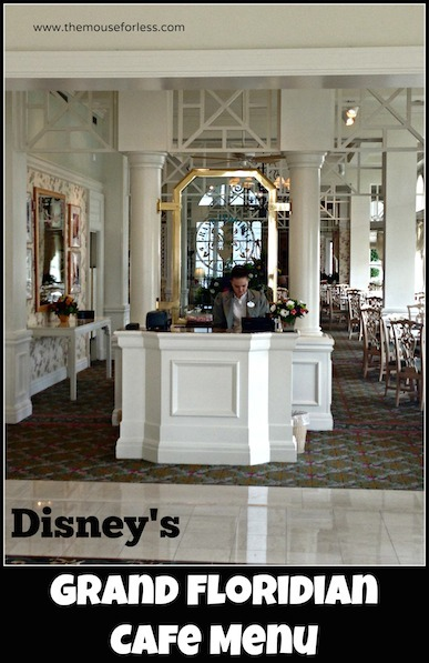 Grand Floridian Cafe at Disney's Grand Floridian Resort and Spa #DisneyDining #GrandFloridian