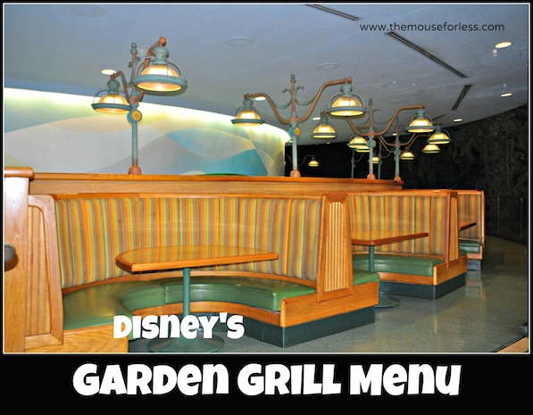 The Garden Grill Menu at Epcot #DisneyDining #Epcot