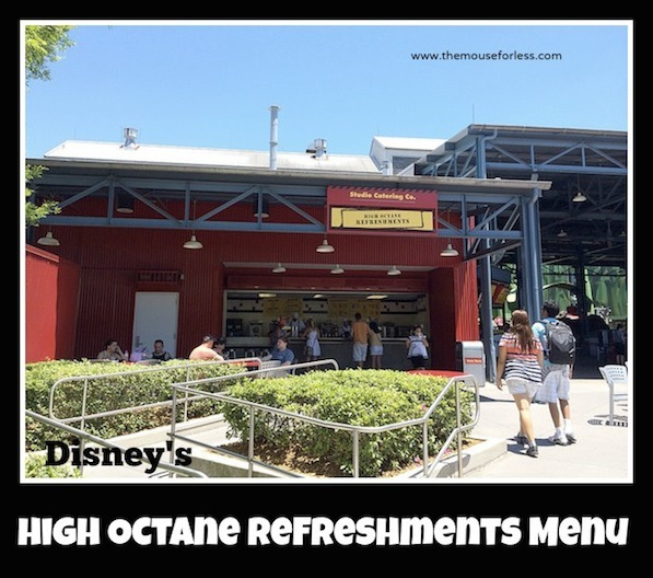 High Octane Refreshments Menu at Disney's Hollywood Studios #DisneyDining #Disney's Hollywood Studios