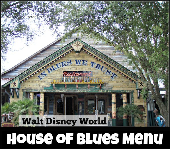 House of Blues Menu