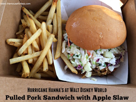 Pulled Pork Sandwich at Hurricane Hanna's Waterside Bar & Grill Menu at Disney's Beach Club #DisneyDining #BeachClub
