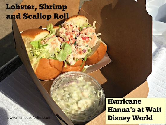Lobster, Shrimp and Scallop Roll at Hurricane Hanna's Waterside Bar & Grill Menu at Disney's Beach Club #DisneyDining #BeachClub