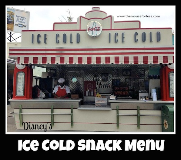 Ice Cold Snack Stand Menu