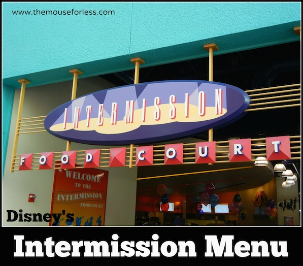 Intermission Food Court Menu at Disney's All Star Music Resort #DisneyDining AllStarMusic