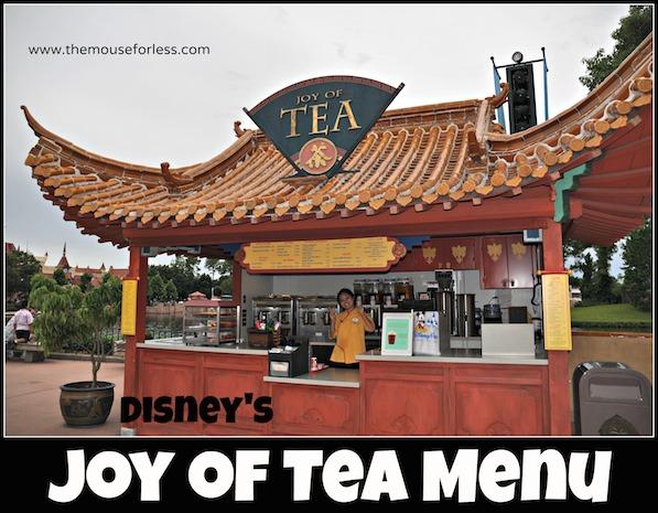 Joy of Tea Menu at Epcot #DisneyDining #Epcot