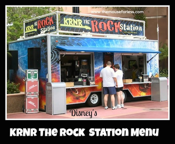 KRNR The Rock Station Snacks Kiosk at Disney's Hollywood Studios #DisneyDining #HollywoodStudios