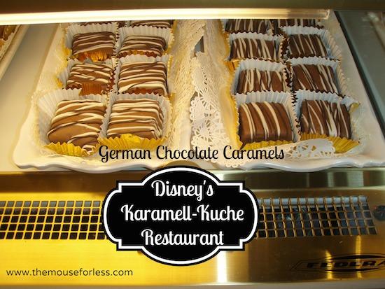Karamell Kuche Menu Epcot At Walt Disney World