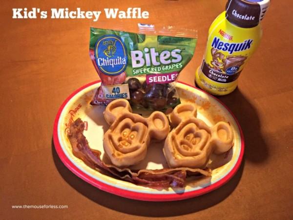 Kids Mickey waffle