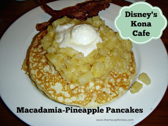 Kona Cafe Breakfast Menu at Disney's Polynesian Resort #DisneyDining #PolynesianResort