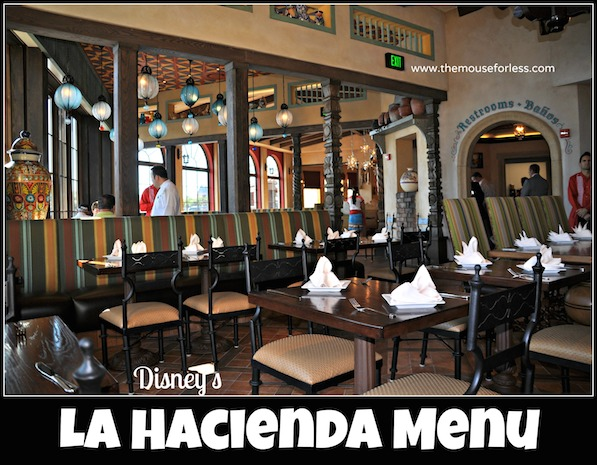 La Hacienda De San Angel Menu Epcot At Walt Disney World