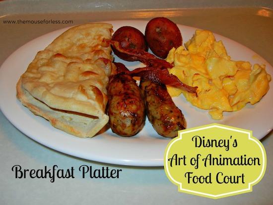 Breakfast Platter - Landscape of Flavors Food Court Menu at Disney's Art of Animation Resort #DisneyDining #WDW