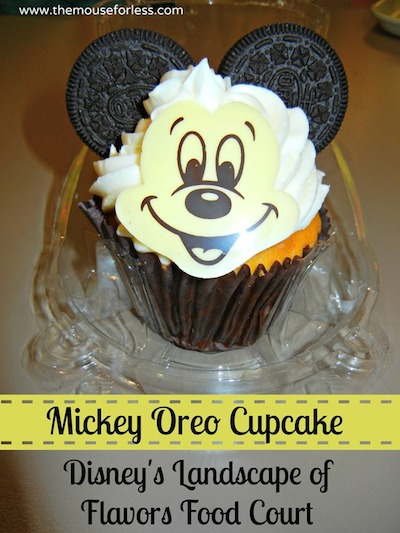 Mickey Oreo Cupcake - Landscape of Flavors Food Court Menu at Disney's Art of Animation Resort #DisneyDining #WDW
