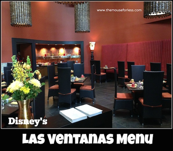Las Ventanas Menu at Coronado Springs Resort #DisneyDining
