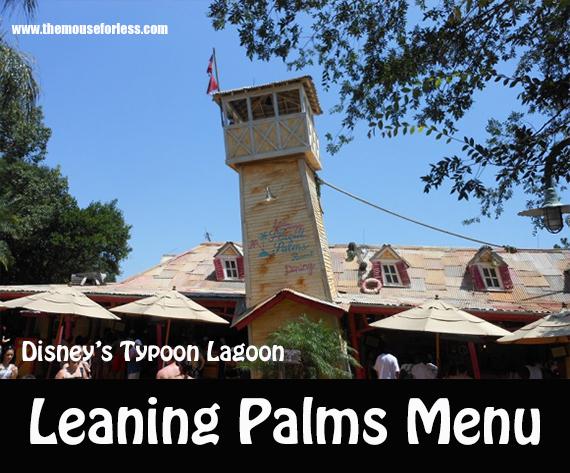 Leaning Palms Menu