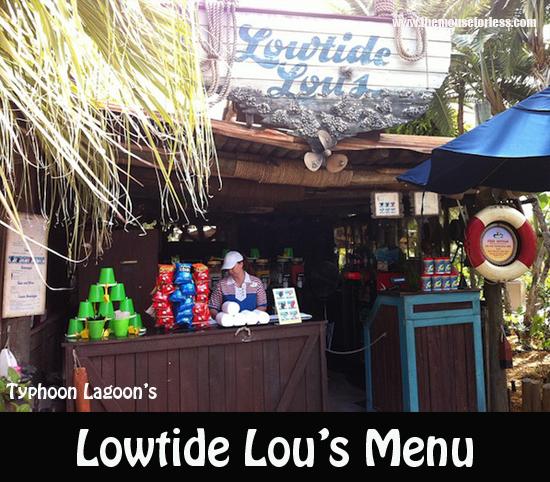 Lowtide Lou Menu