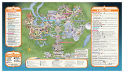 2014 Mickey's Not-So-Scary Halloween Party guide map