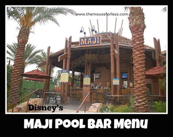 Maji Pool Bar Menu at Disney's Animal Kingdom Villas Kidani Village #DisneyDining #AnimalKingdomVillas
