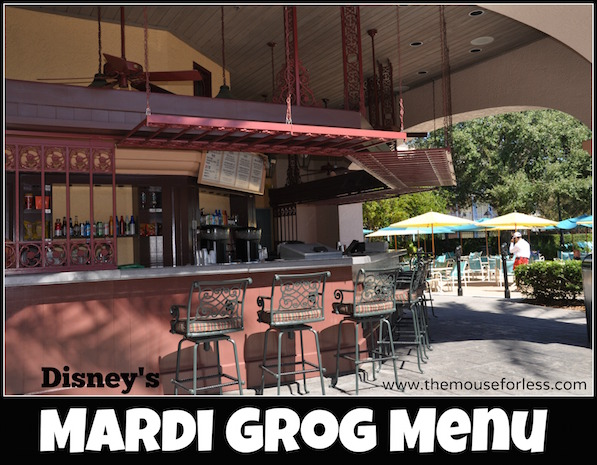 Mardi Grogs Pool Bar at Disney's Port Orleans Resort - French Quarter #DisneyDining #PortOrleansResort