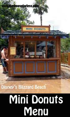 Mini Donuts Menu