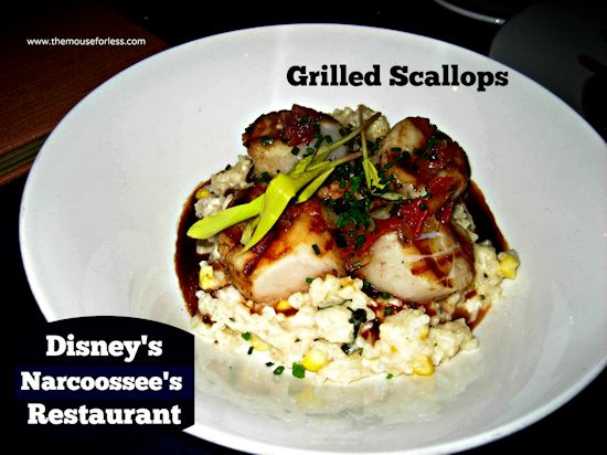 Narcoossee's Grilled Scallops at Disney's Grand Floridian Resort and Spa #DisneyDining #GrandFloridian