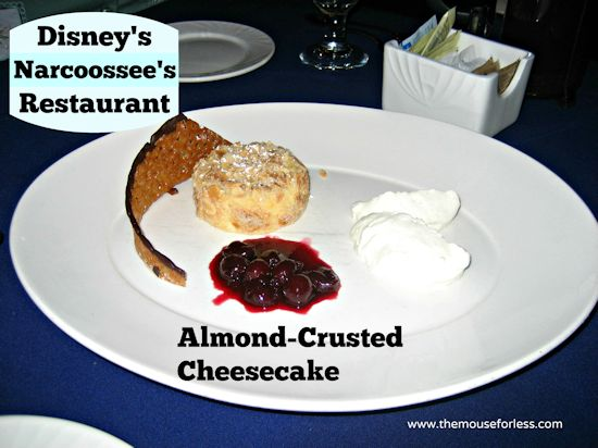 Narcoossee's Almond Cheesecake at Disney's Grand Floridian Resort and Spa #DisneyDining #GrandFloridian