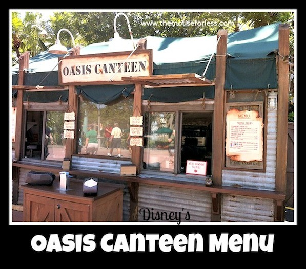 Oasis Canteen Menu at Disney's Hollywood Studios #DisneyDining #DisneysHollywoodStudios