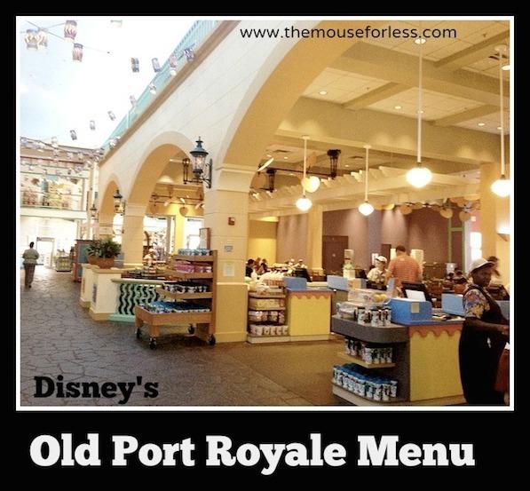 Old Port Royale Food Court at Disney's Caribbean Beach Resort #DisneyDining #CaribbeanBeachResort