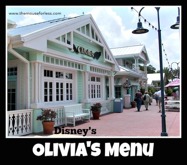 Olivia's Cafe Menu at Old Key West Resort #DisneyDining #OldKeyWest