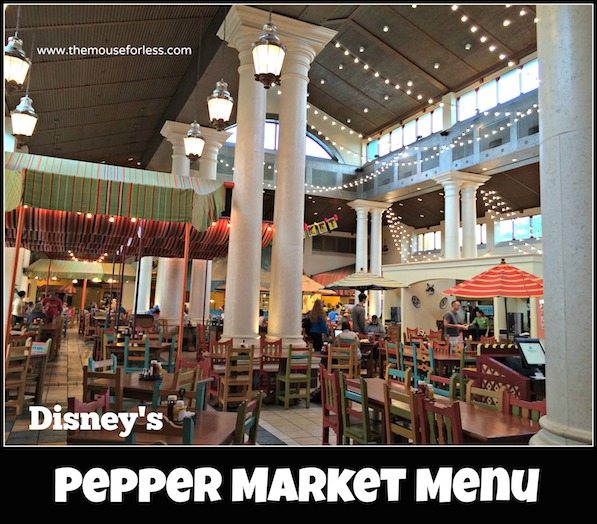 Pepper Market Menu at Coronado Springs Resort #DisneyDining