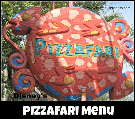 Pizzafari Counter Service Menu at Disney's Animal Kingdom Park in Walt Disney World #DisneyDining #AnimalKingdom