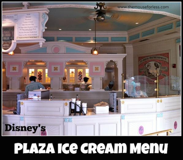 Plaza Ice Cream Parlor Menu at the Magic Kingdom #DisneyDining #Magic Kingdom