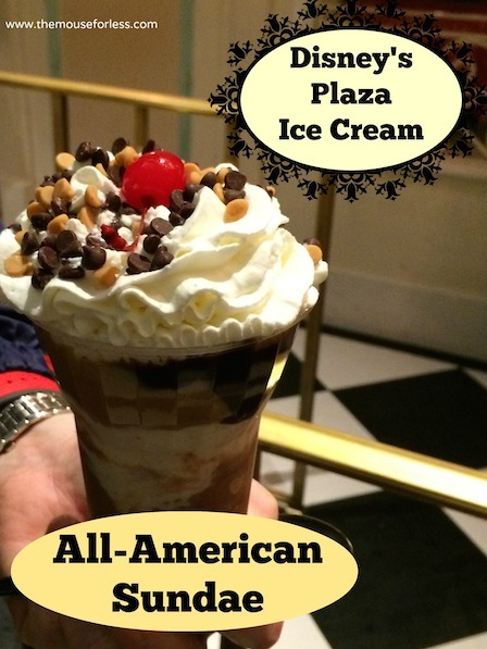 All-American Sundae from Plaza Ice Cream Parlor at the Magic Kingdom #DisneyDining #Magic Kingdom