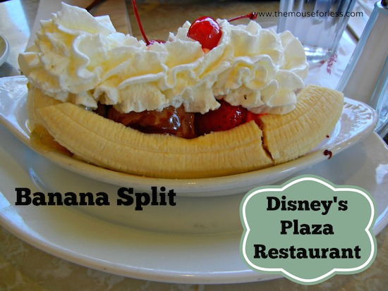 Original Banana Split at The Plaza Restaurant at the Magic Kingdom #DisneyDining #MagicKingdom