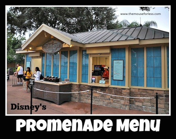 Promenade Menu at Epcot's World Showcase #DisneyDining #Epcot