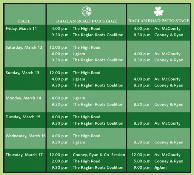Raglan-Road-entertainment-schedule