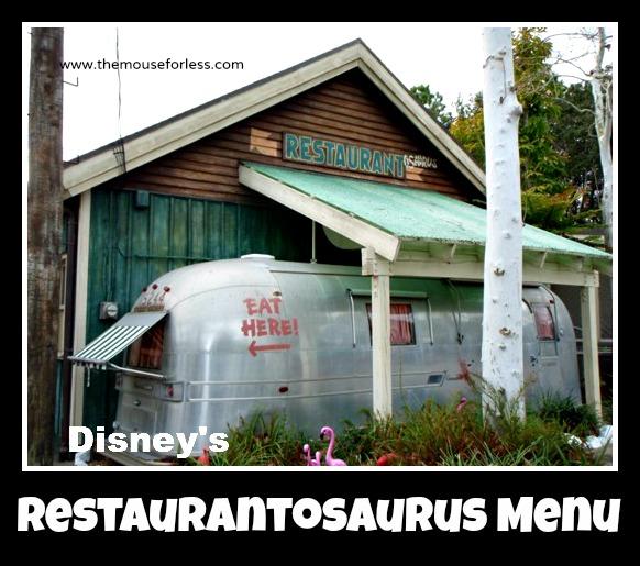 Restaurantosaurus Counter Service Menu at Disney's Animal Kingdom #WaltDisneyWorld