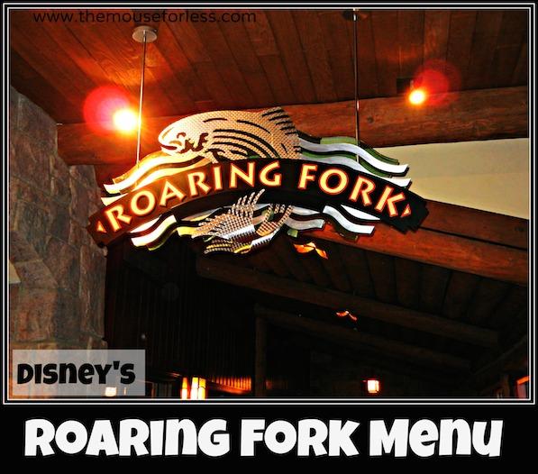 Roaring Fork Menu at Disney's Wilderness Lodge #DisneyDining #WildernessLodge