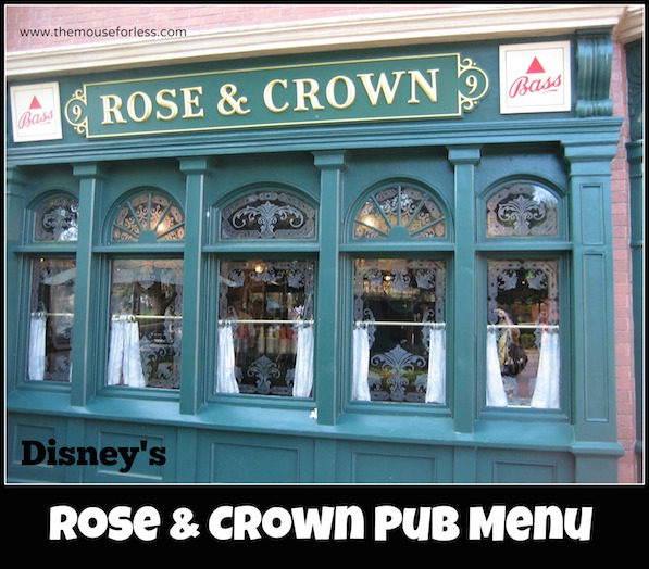 Rose & Crown Pub Menu at Epcot #DisneyDining #Epcot