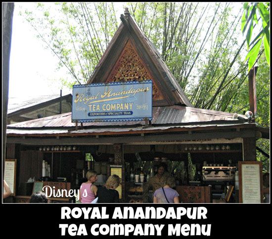 Royal Anadapur Tea Company Menu at Disney's Animal Kingdom #DisneyDining #AnimalKingdom