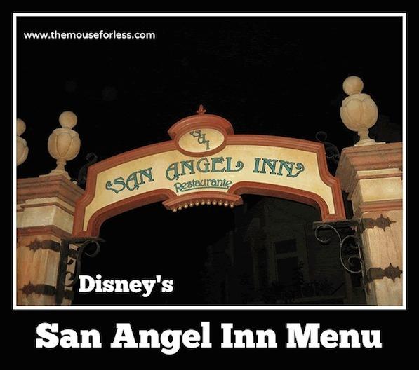 San Angel Inn menu at the Mexico Pavilion at Epcot #DisneyDining #Epcot