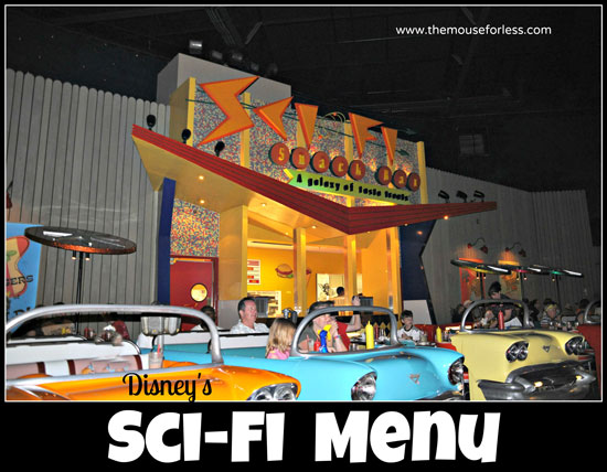 Sci-Fi Dine In Theater Restaurant Menu at Disney's Hollywood Studios #DisneyDining #WDW