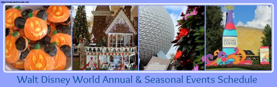 Walt Disney World Annual & Seasonal Events Schedule
