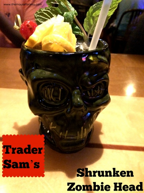 Trader Sam's Grog Grotto and Tiki Terrace Shrunken Zombie Head