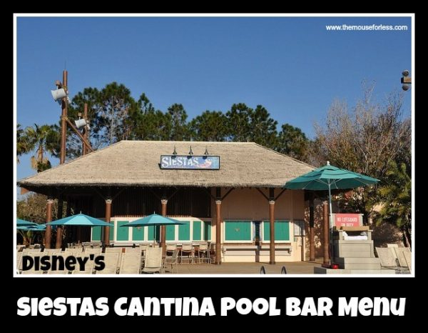 Siestas Cantina Pool Bar Menu